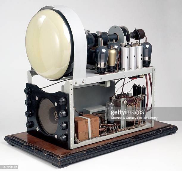 This demonstration model was produced by Ferranti to demonstrate how the television worked High voltages produced by the transformer sent beams of...