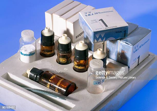 This drug testing kit was used by the Laboratory of the Government Chemist to screen samples for restricted substances such as cannabis LSD cocaine...
