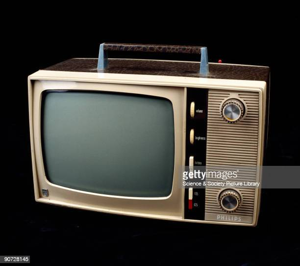 This dual standard 405/625 line television set with a 12 inch screen was one of the first truly portable television sets It was produced in the early...