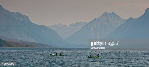 Kayakers on Lake McDonald