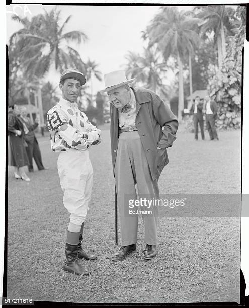 This famous duo stands in the Paddock at Hialeah Park when Nashua went to post for a prep race before the $100000 Flamingo Stakes on February 26th...
