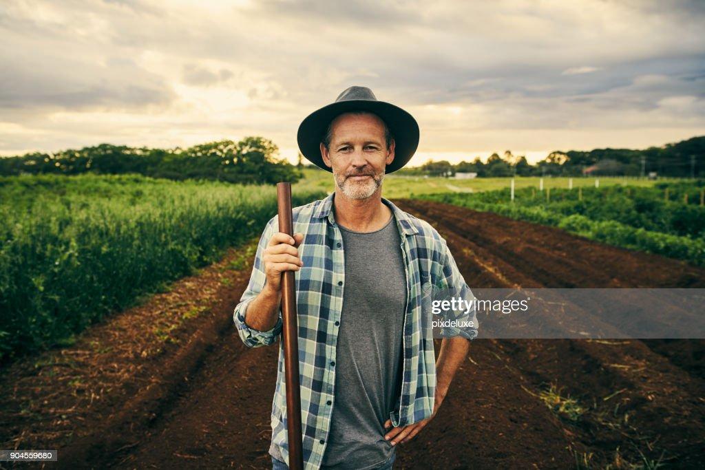 Esta granja es mi orgullo y mi alegría : Foto de stock