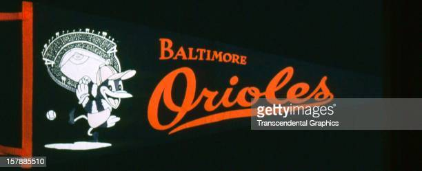 This felt and silk screen pennant for the Orioles was made circa 1960 in Baltimore Maryland