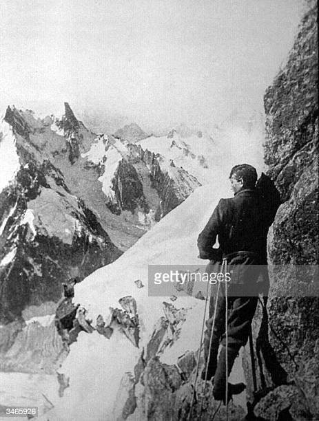 AUSTRALIA OUT This file photo dated 1909 shows British mountain climber George Mallory who died while scaling Mount Everest in 1924 on the Moine...