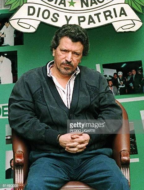 This file photo dated 1995 shows cocaine trafficker Miguel Rodriguez Orejuela in Colombia. Colombian Senator Carlos Moreno de Caro announced 17...