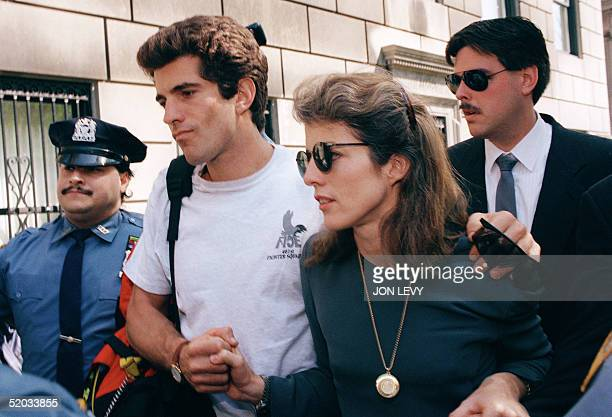 This file photo dated 22 May 1994 shows John F Kennedy Jr and his sister Caroline Kennedy Shlossberg soon after their mother Jackie Kennedy's death...