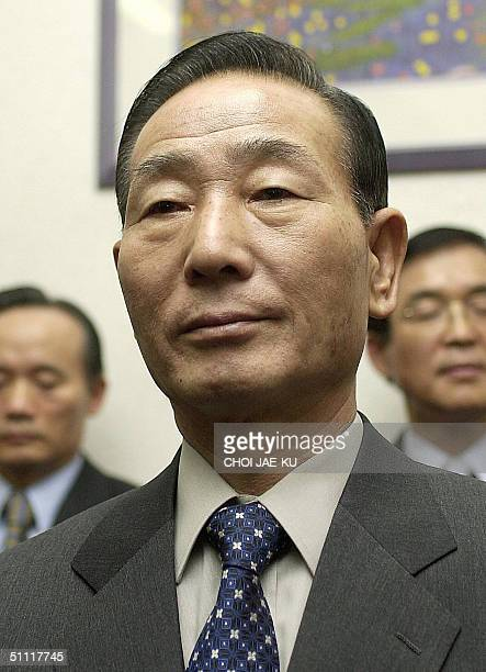 This file photo dated 27 February 2003 shows South Korea's thennew defence minister Cho YoungKil attending South Korea's new cabinet inauguration...