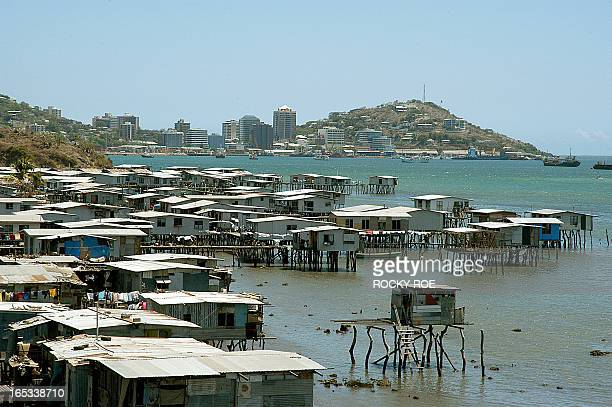 STORY AFPLIFESTYLEPNGPOLITICSSOMARE This file photo dated 28 September 2005 shows stilt settlements surrounding Port Moresby the downatheel capital...