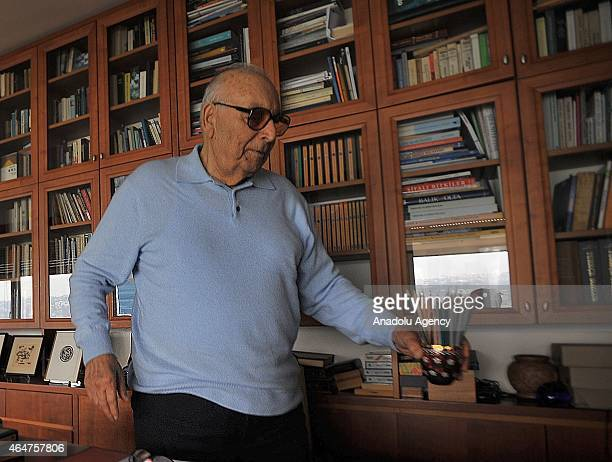 This file photo dated January 20 2008 shows Turkish author Yasar Kemal who died at the age of 92 on 28th of February 2015 due to a cardiac arrhythmia...