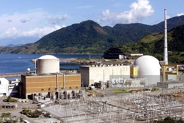 This file photo from 12 May 2000 shows the nuclear facility Angra 2 in Itaorna near Rio de JaneiroBrazil Photo taken the 12 from May of 2000 of the...
