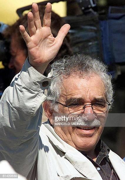 This file photo shows Nobel Prize of Literature winner Gabriel Garcia Marquez of Colombia taken 7 Jan 1999 in San Vicente de Caguan PARA ILUSTRAR EL...