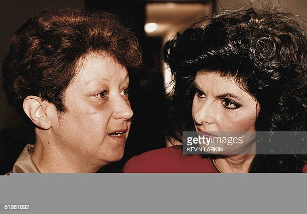 This file photo shows Norma McCorvey the former Jane Roe in the landmark Supreme Court decision Roe vWade as she tells reporters 18 September 1990 in...