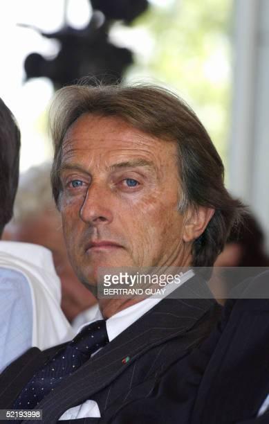 This file photo taken 01 September 2004 shows Luca Cordero di Montezemolo, president of Confindustria of Fiat Group and Ferrari-Maserati on the...