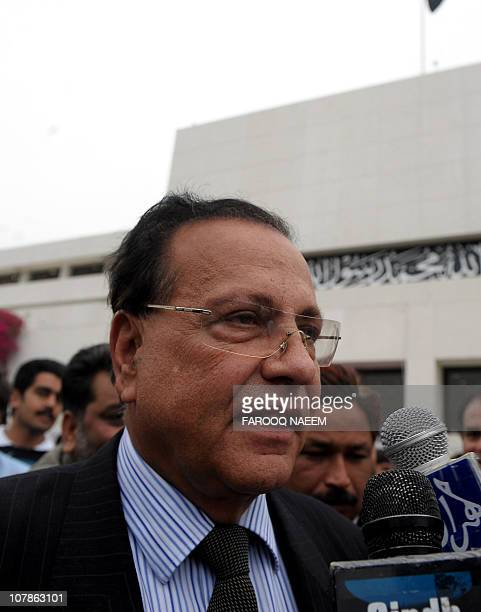 This file photo taken on March 28 2009 shows governor of Pakistan's Punjab Province Salman Taseer speaking to the media after a national assembly...