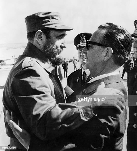 This File photo taken on November 10 1971 shows Cuban Prime Secretary of the Cuban Communist party and President of the State Council Fidel Castro...