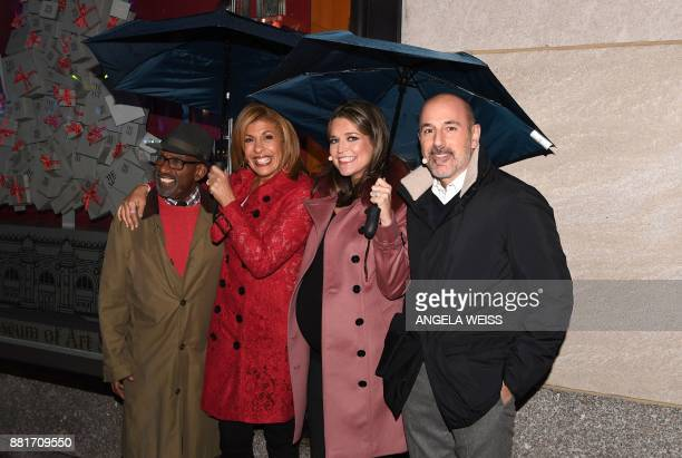 This file photo taken on November 30 2016 shows 'Today' show hosts Al Roker Hoda Kotb Savannah Guthrie and Matt Lauer attending the 84th Annual...
