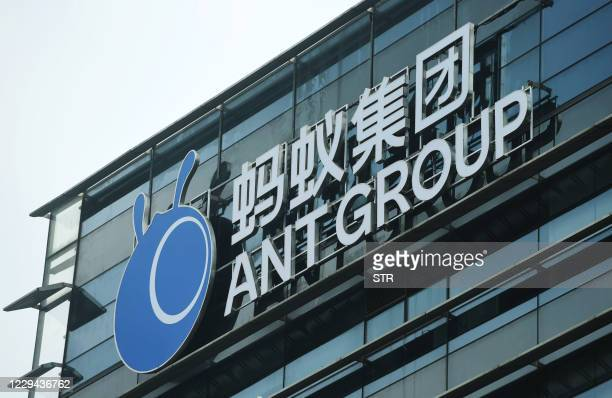 This file photo taken on October 13, 2020 shows the Ant Group headquarters in Hangzhou, in China's eastern Zhejiang province. - China's Ant Group...