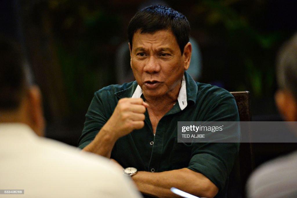 PHILIPPINES-POLITICS-DUTERTE-DAVAO-FILES : News Photo