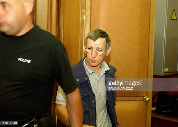 This file picture dated 26 June 2003 shows French Michel Fourniret pictured at Dinant's court house Hot on the heels of the Dutroux paedophile murder...