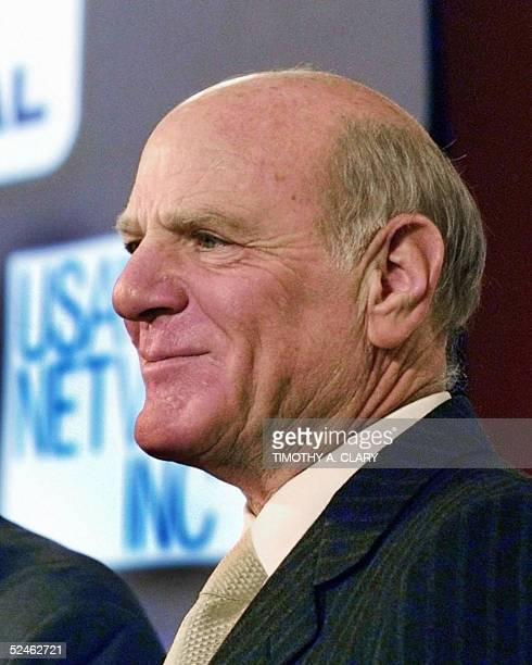 This file picture taken 17 December 2001 in New York shows head of Vivendi Universal Entertainment Barry Diller InterActiveCorp the ecommerce holding...