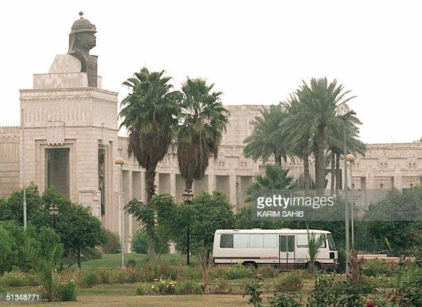 This file picture taken in the late 1990s shows the Radwaniya presidential palace in Baghdad. Access to Iraqi President Saddam Hussein's eight...