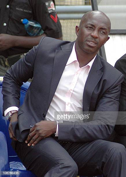 This file picture taken on January 22 2005 shows Samson Siasia in Lagos The Nigeria Football Federation on November 4 2010 named Samson Siasia as the...