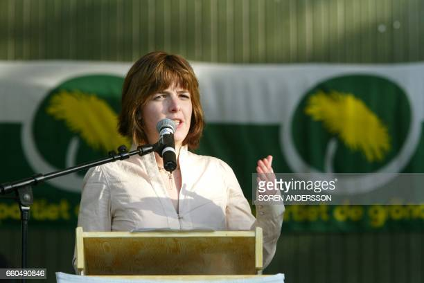 This file picture taken on July 4 2004 in Visby Sweden shows UN Swedish employee Zaida Catalan during the Almedalen Week 36yearold Zaida Catalan was...