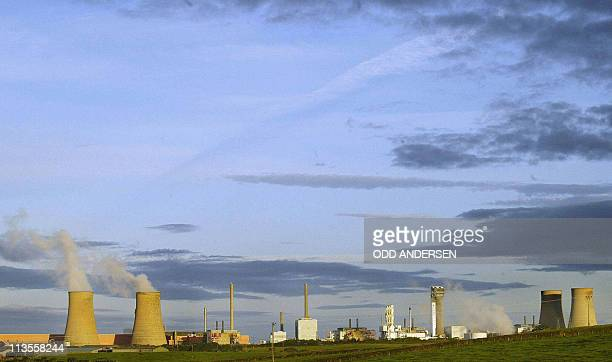 This file picture taken on September 26 2002 shows the Sellafield nuclear plant in North England British police said on May 3 2011 they had arrested...