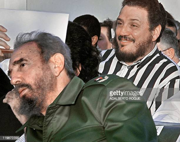 This files photo dated February 2002 of Castro's elder son nuclear physicist Fidel Castro DiazBalart during the Havana Book Fair opening Cuban media...