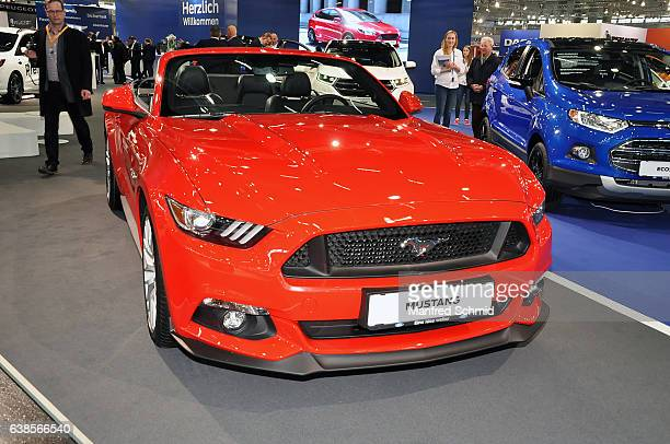 This Ford Mustang is displayed during the Vienna Autoshow as part of Vienna Holiday Fair The Vienna Autoshow will be held January 1215 on January 11...