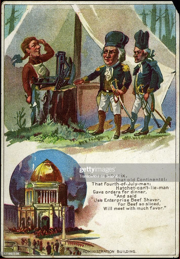 ''George Washington Cartoon' : News Photo