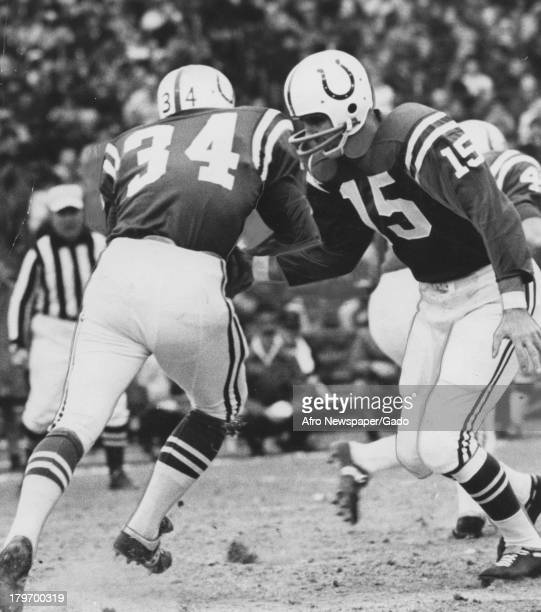 This game between the Colts and Falcons was held on December 1, 1968 at Memorial Stadium as part of the regular season schedule, Baltimore, Maryland,...