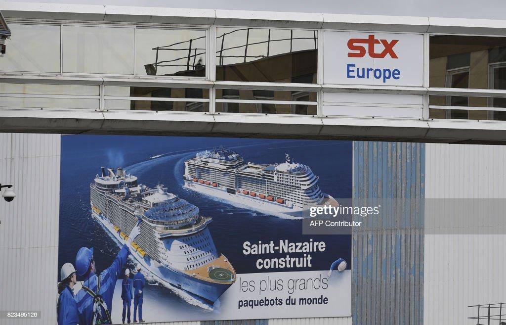 FRANCE-ITALY-POLITICS-SHIPBUILDING-TRANSPORT : News Photo
