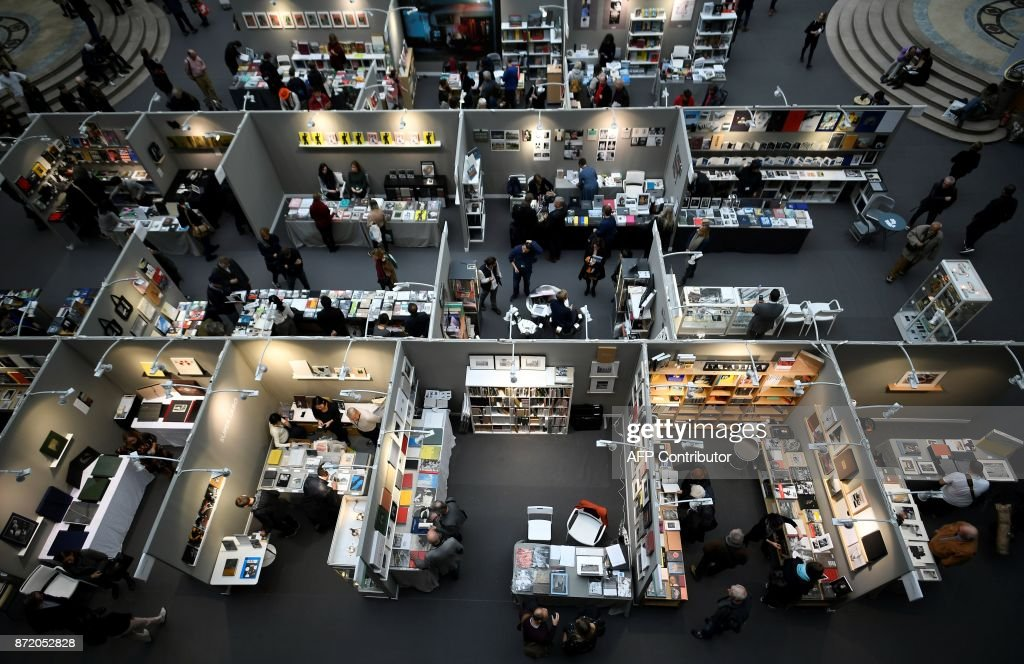 Looking down on the stands at Paris Photo, the international photography fair marking its 20th anniversary this year