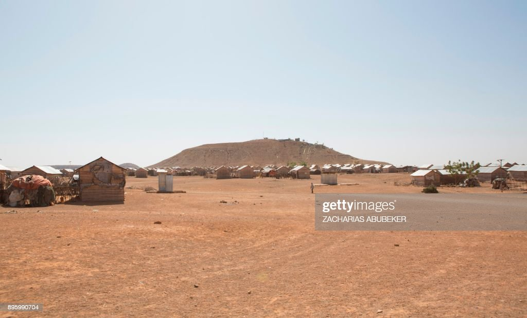 This general view shows Mekladida refugee camp in the Somali