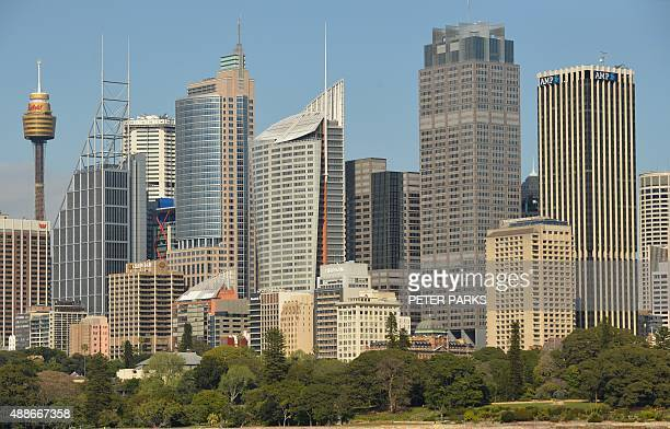 This general view shows the central business district of Sydney on September 17 2015 Australian real estate prices particularly in Sydney and...