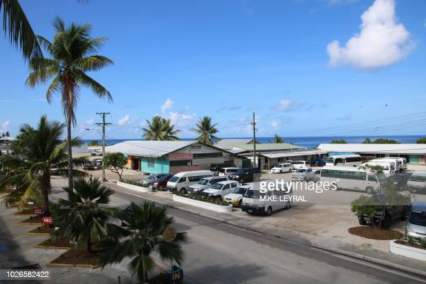 This general view shows the Civic Center where the Pacific Islands Forum is taking place in Aiwo on the island of Nauru on September 4 2018 Pacific...