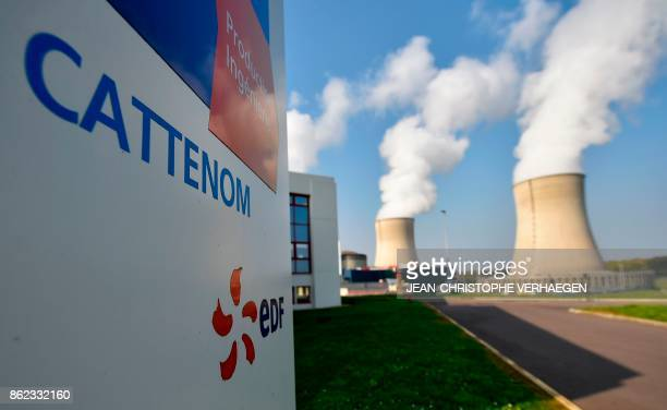 This general view shows the chimmneys of the nuclear power plant at Cattenom in eastern France on October 17 2017 VERHAEGEN