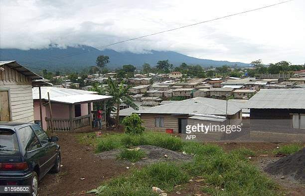 This general view shows the popular quarter of SEMU in Malabo, the capital of Equatorial Guinea on June 15 two days before the trial of British...
