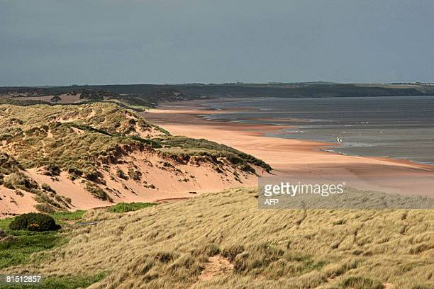 This general view taken on June 10 2008 shows Balmedie beach in Aberdeenshire Scotland near where US tycoon Donald Trump hopes to build a...