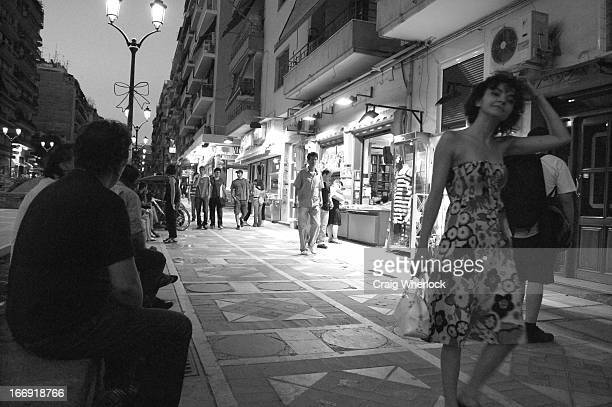 This girl walking down the street in the centre of the Greek city of Thessaloniki reminds me of a scene from a 1950's Italian movie. When she saw me...
