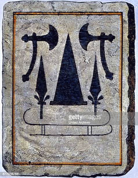 This grave slab covering the grave of an old Germanic
