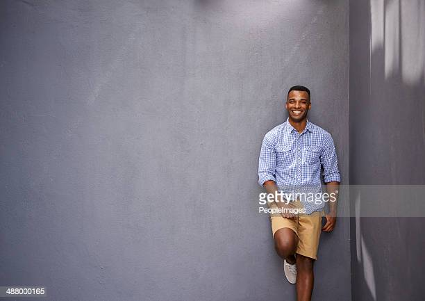 this guy just knows what's hip and happening - most handsome black men stock photos and pictures