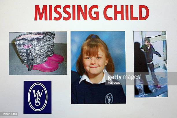 This handout composite image made available February 22 2008 from West Yorkshire Police shows missing nineyearold Shannon Matthews' distinctive boots...