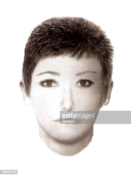 This Handout image displays a EFit photocomposite of a woman sought in the search for missing girl Madeleine McCann distributed to the press on...