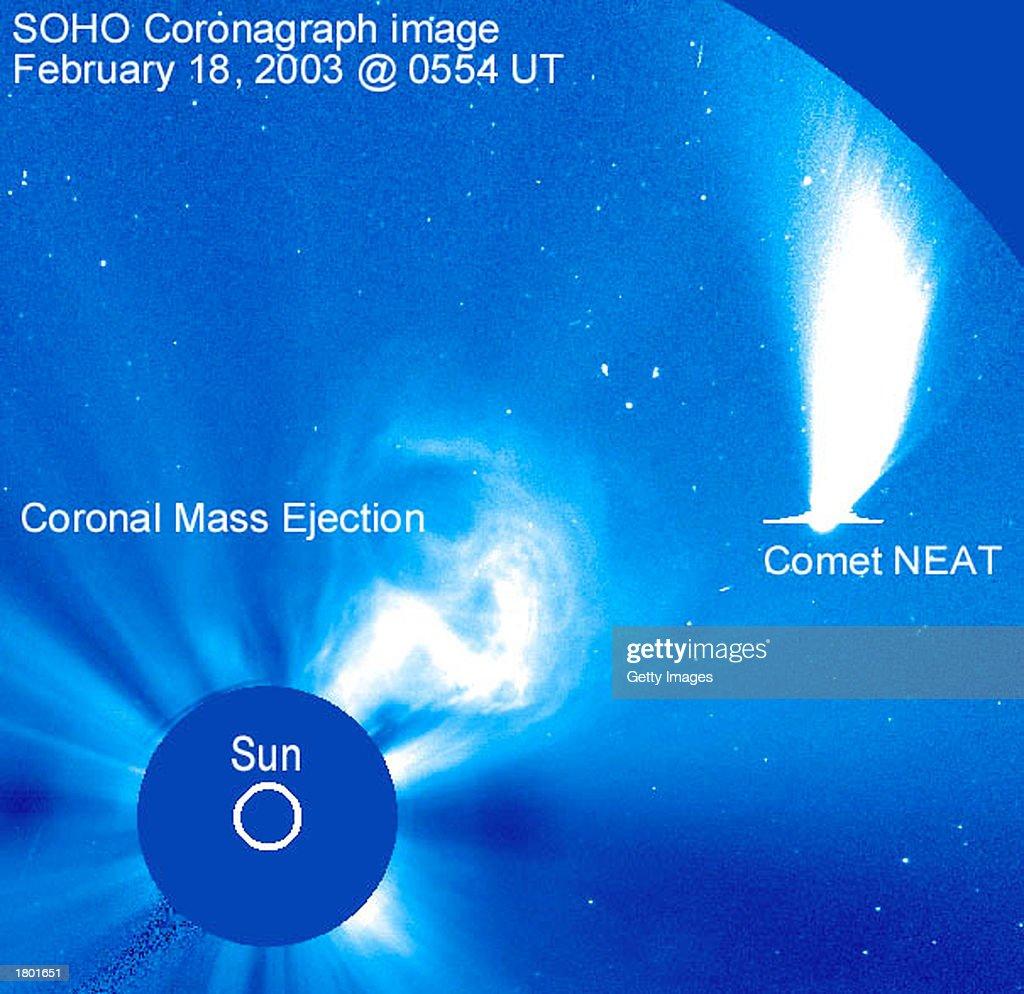 SOHO Captures Image Of NEAT Comet : News Photo