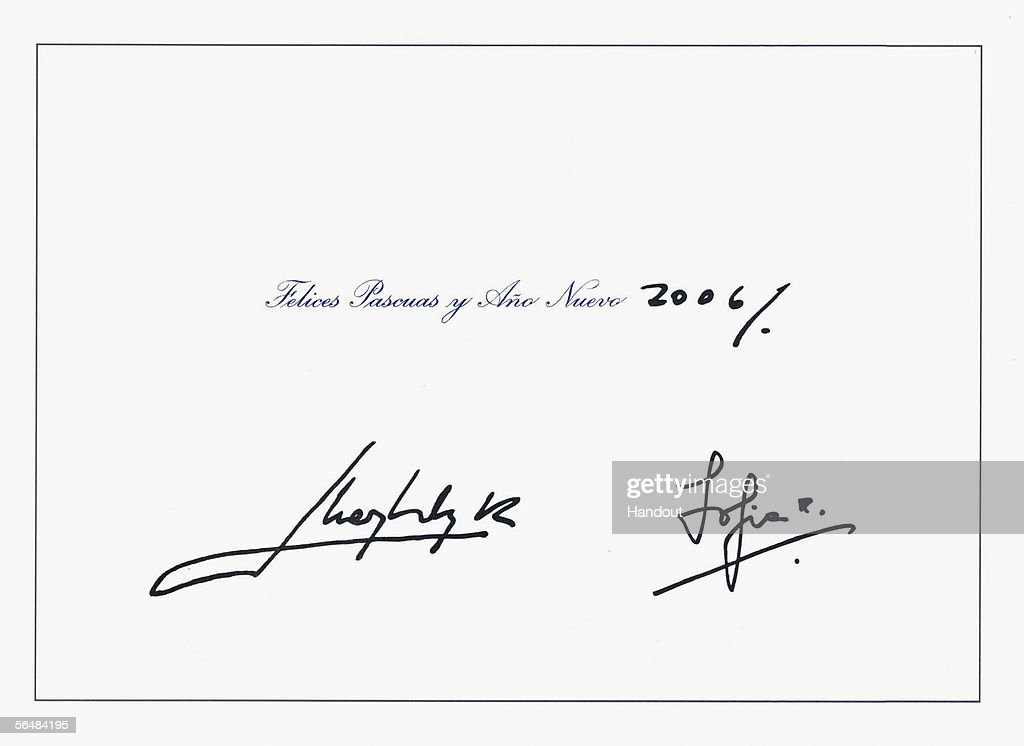 Christmas cards from spanish royal family photos and images getty this handout image from the spanish royal house shows the inside of a christmas greeting card m4hsunfo