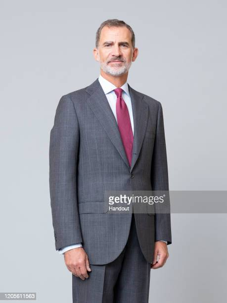 This handout image provided by the Spanish Royal Household shows Official photograph of His Majesty King Don Felipe VI.