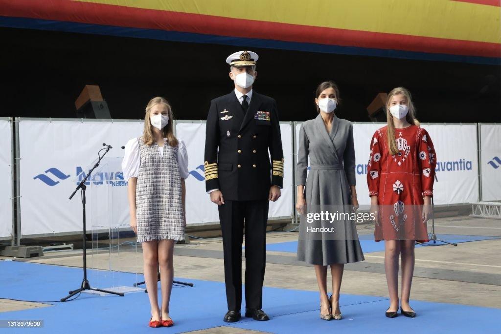 Spanish Royals Inaugurate 'Isaac Peral' Submarine In Cartagena : ニュース写真