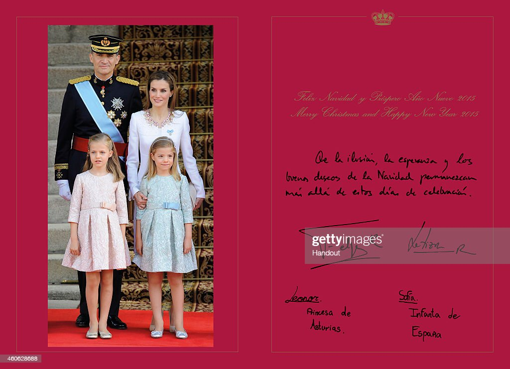 Spanish Royals Christmas Cards 2014 : News Photo